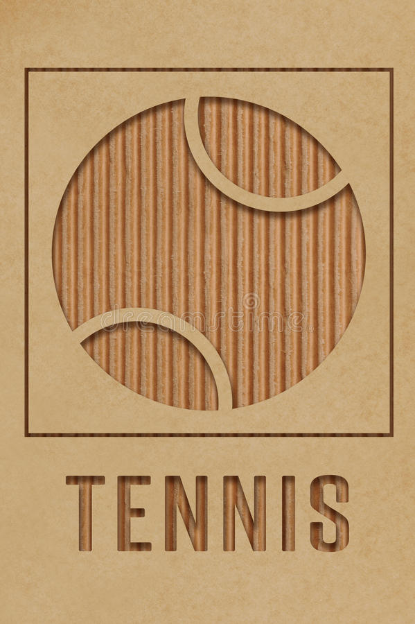 Download Tennis Concept stock illustration. Illustration of cardboard - 38417346
