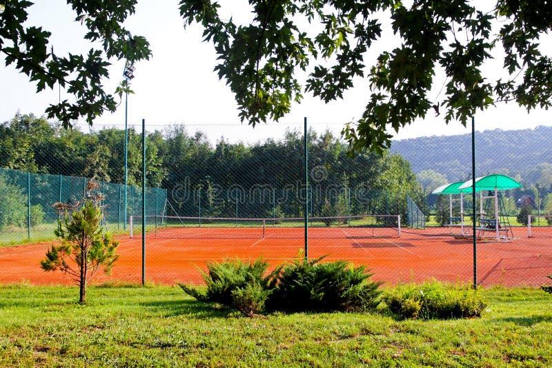 Download Tennis court stock photo. Image of sport, orange, terrain - 18723428