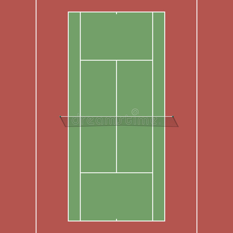 Tennis court stock illustration