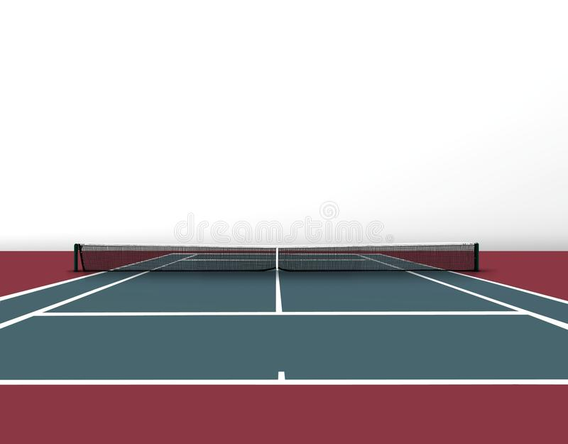 Download Tennis court stock illustration. Image of health, ball - 26718197