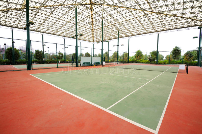 Tennis court. A outdoor tennis court,surface: Hard royalty free stock image