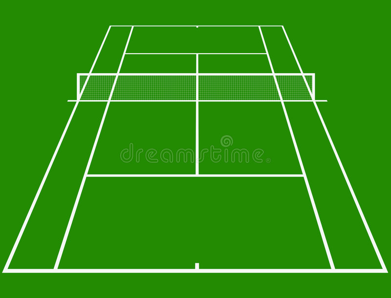 Tennis court. In perspective stock illustration