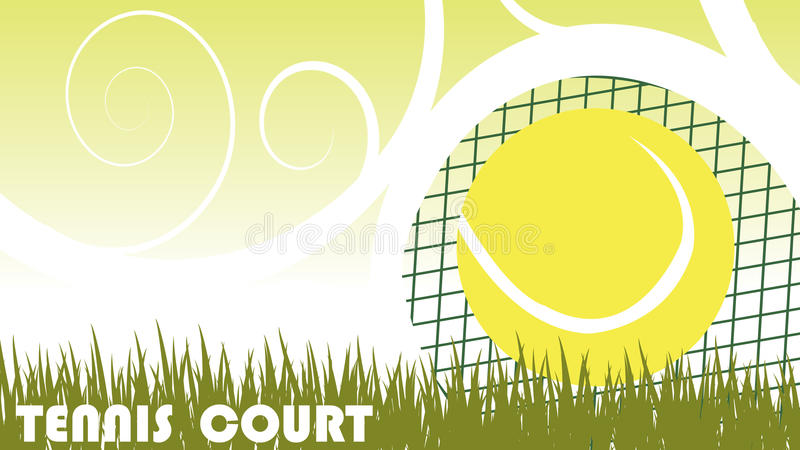 Tennis court. Abstract vector background royalty free illustration