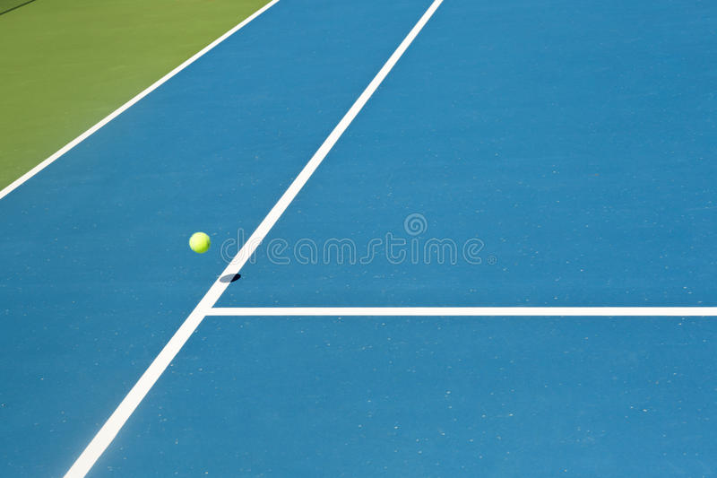 Tennis court ball in / out , ace / winner. During serve, point royalty free stock photography