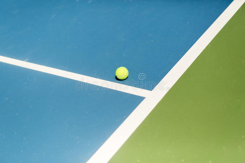 Tennis court ball in / out , ace / winner. During serve, point stock photography