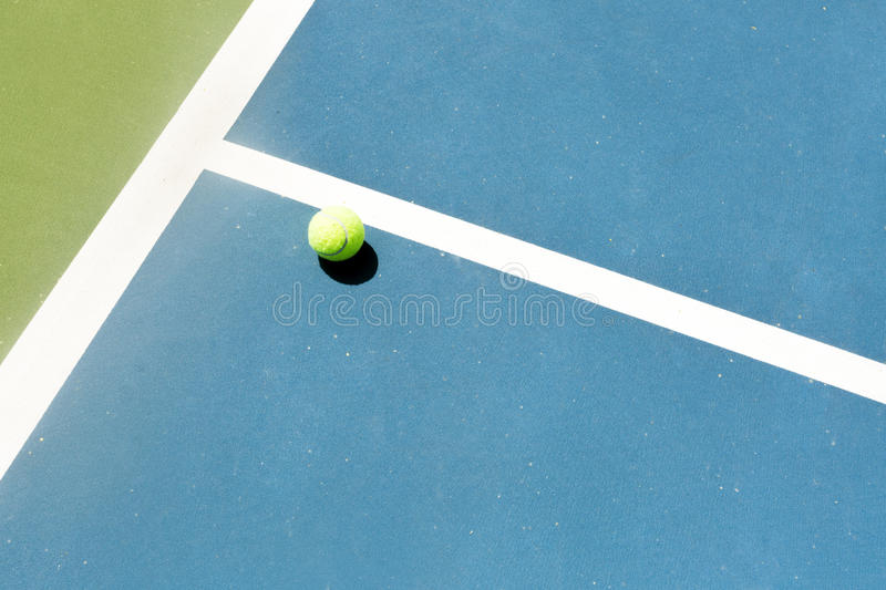 Tennis court ball in / out , ace / winner. During serve, point stock photo