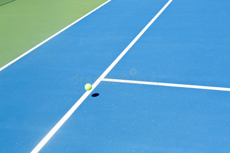 Tennis court ball in / out , ace / winner. During serve, point stock photos