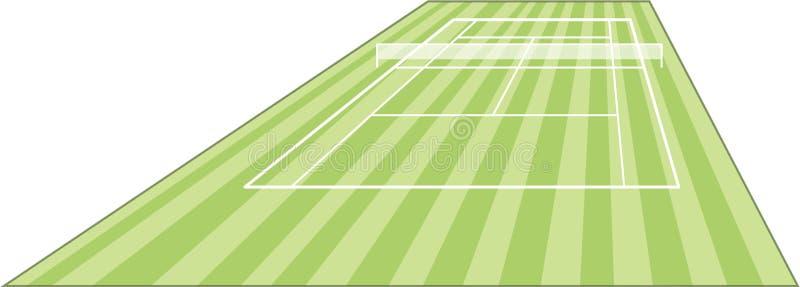 Tennis court field. On green stock illustration