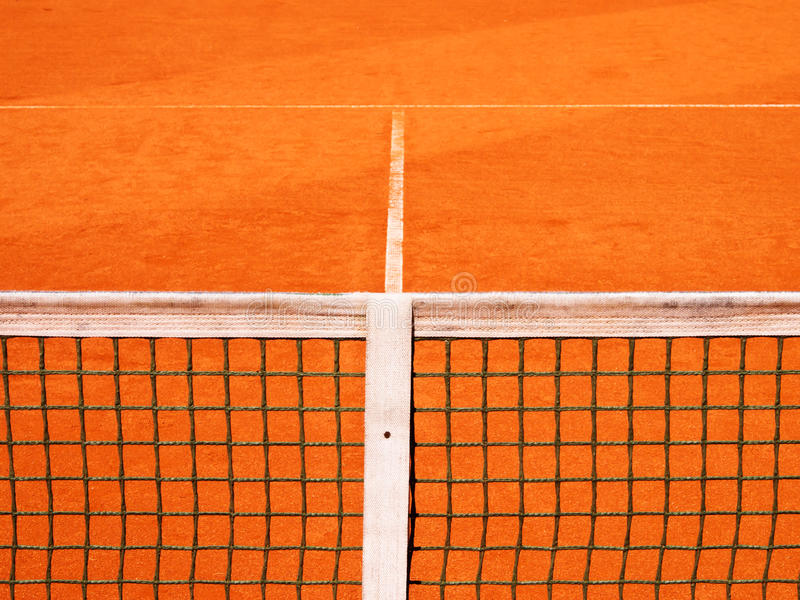 Tennis Court With Line And Net Royalty Free Stock Photos