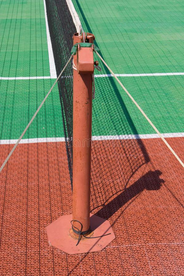 Download Tennis court with a net stock image. Image of white, green - 6722677