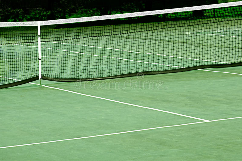 Download Tennis Court With Net stock image. Image of active, body - 30400773
