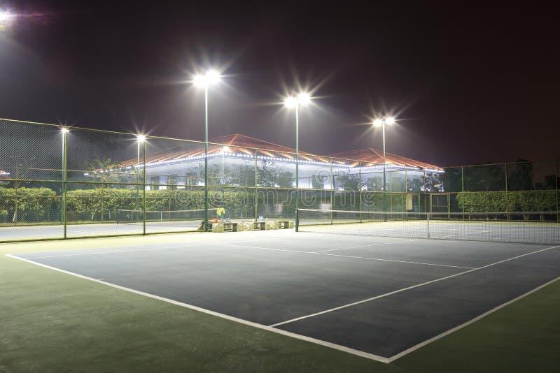 Tennis court. The tennis court night view, tianzhu hotel, amoy city, china stock photos