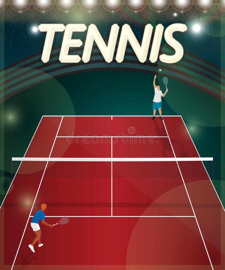 Tennis court. Sport background illustration royalty free illustration
