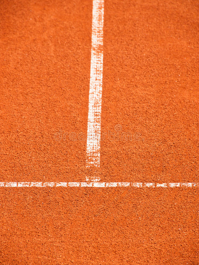 Tennis Court With T-line (263) Royalty Free Stock Images
