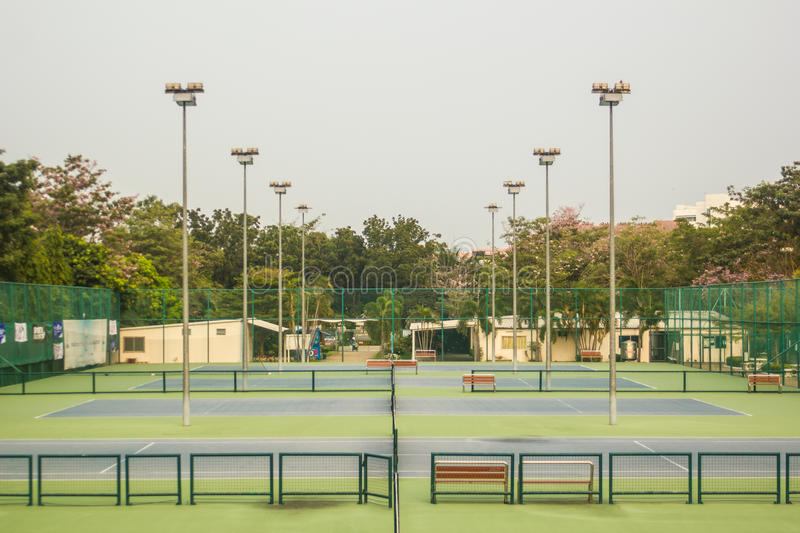 Tennis Court - Tennis Player. stock photography
