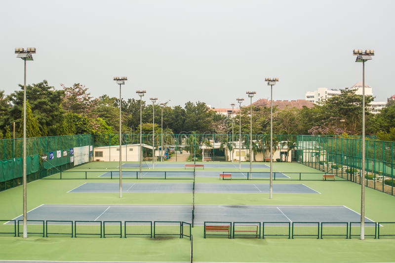 Tennis Court - Tennis Player. royalty free stock photography