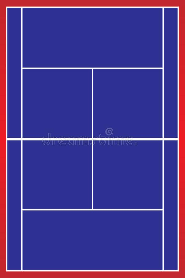Tennis court . Top view . The exact proportions . Vector illustration. Sport concept royalty free illustration