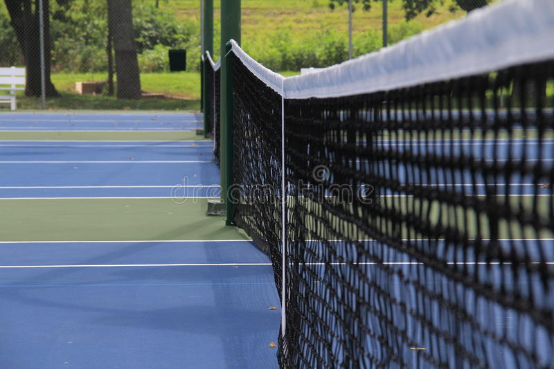 Tennis courts. Close up of tennis net on courts in lafayette louisiana beaver park stock photography