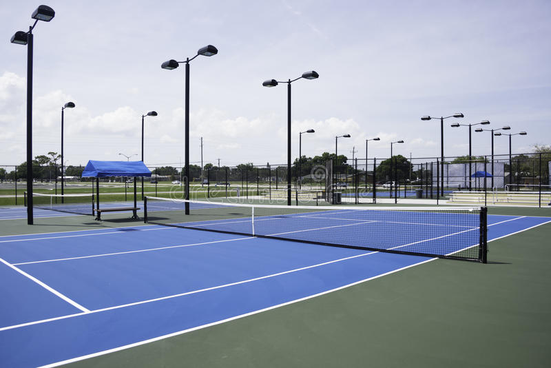 Tennis Courts. At College in Florida stock photos