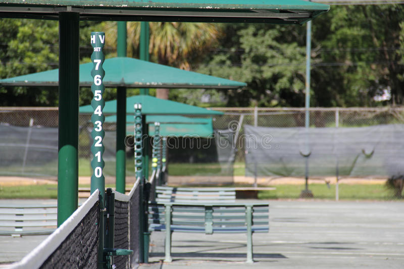 Tennis courts. In lafayette louisiana beaver royalty free stock photography