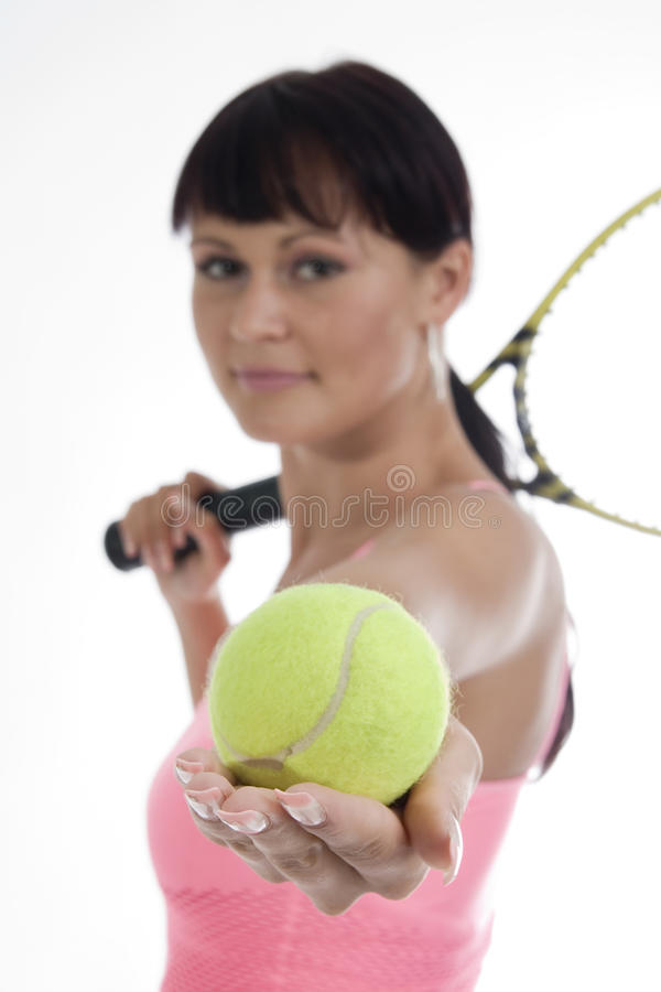 Tennis de femme - joueur. images libres de droits