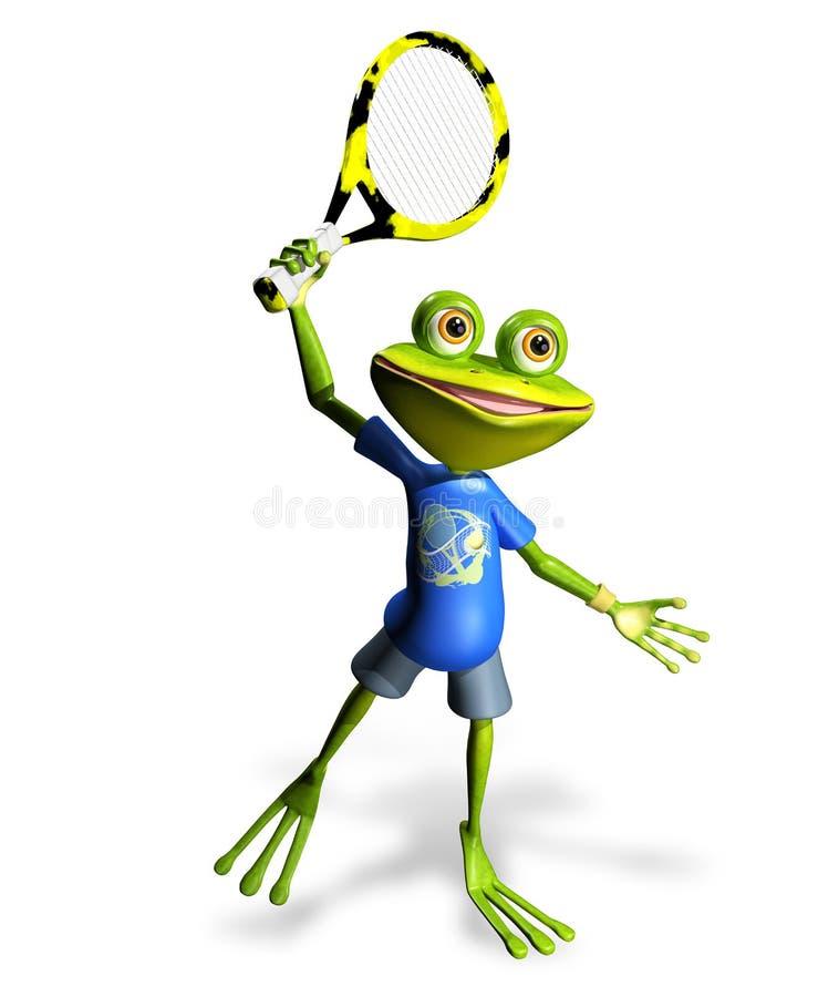 Tennis de grenouille illustration stock