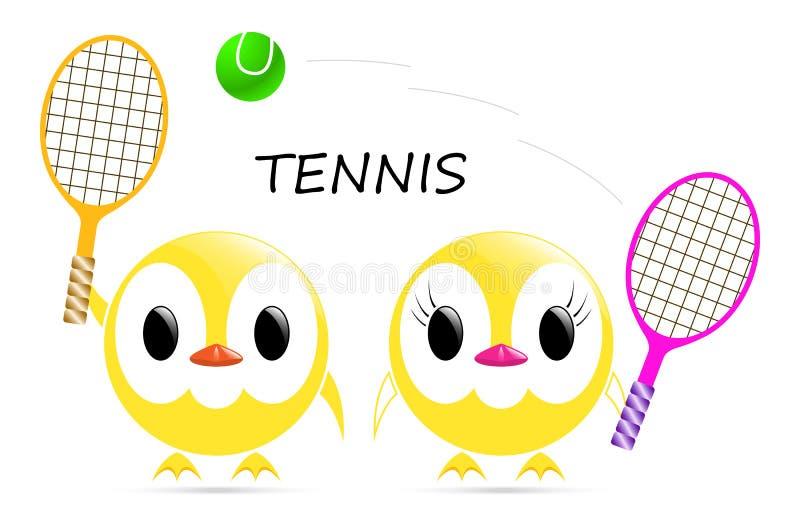 Tennis de poussin de vecteur illustration de vecteur