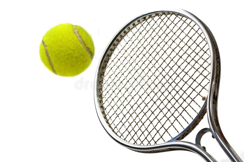 tennis de raquette de BAL images stock