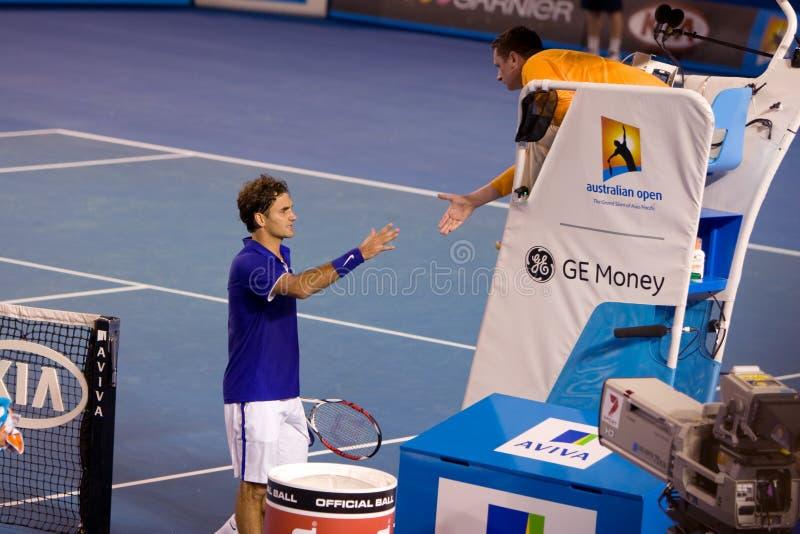 tennis de Roger de joueur de federer image libre de droits