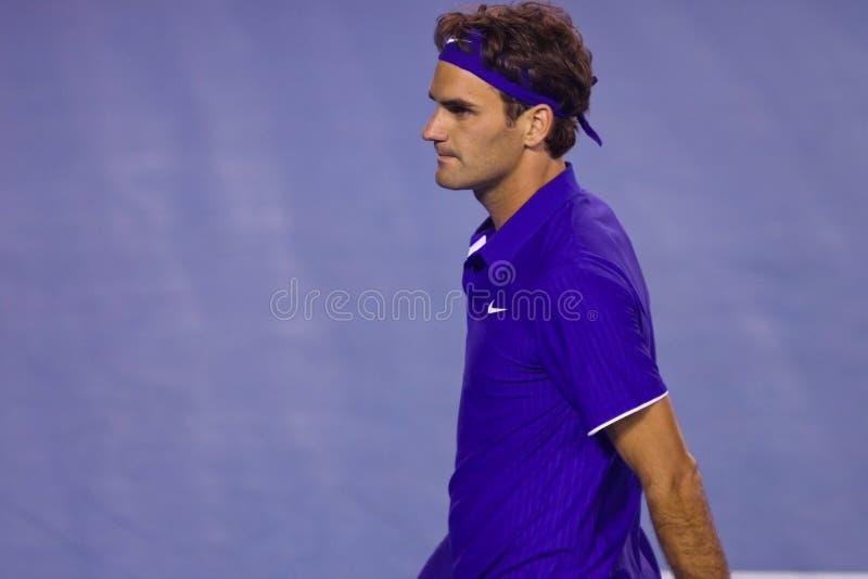tennis de Roger de joueur de federer photo libre de droits