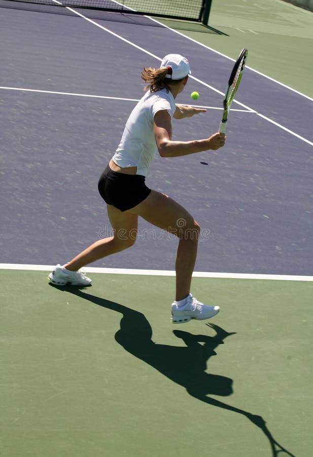 Tennis della donna immagine stock