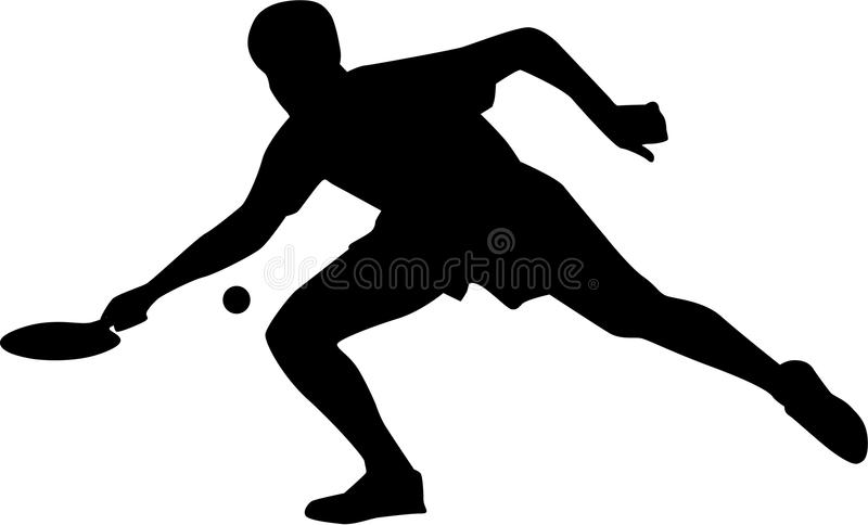 Tennis della Tabella con la racchetta illustrazione di stock