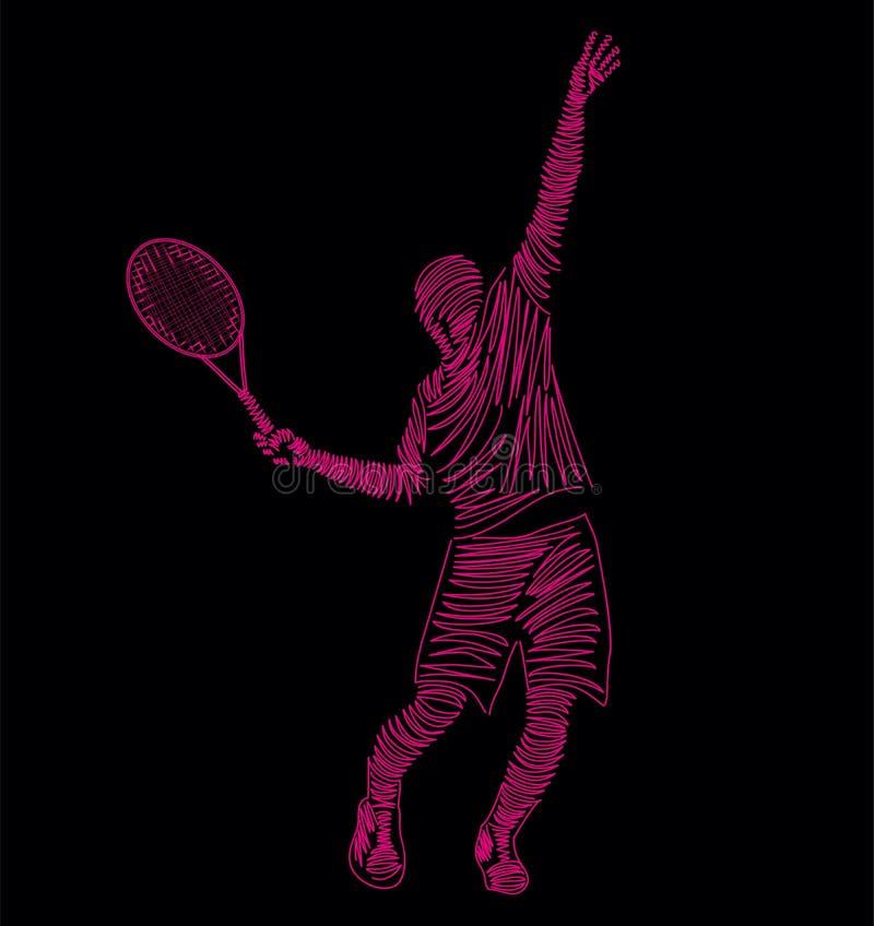 Tennis royalty free illustration