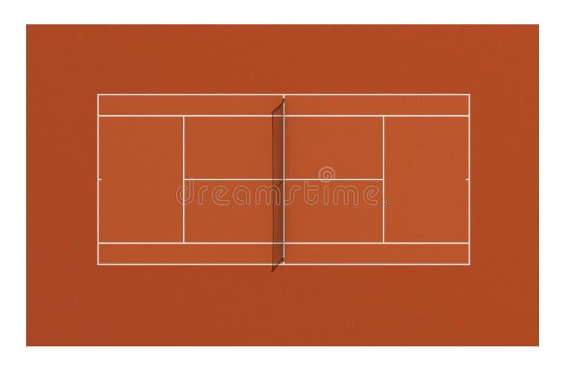 tennis di sport della corte di concetto della concorrenza dell'argilla illustrazione vettoriale