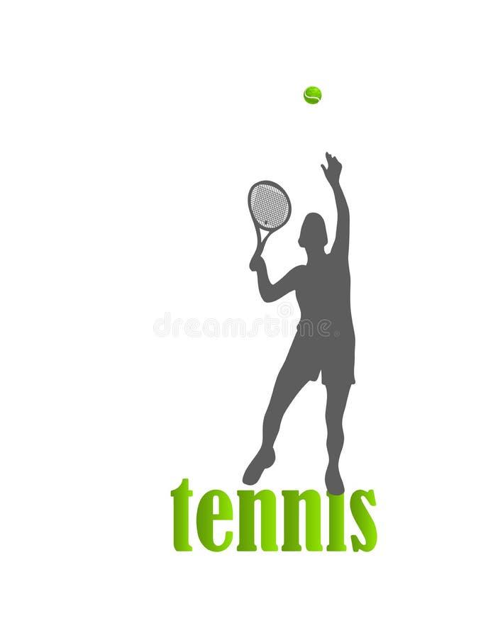 tennis Donna Vettore isolato illustrazione di stock