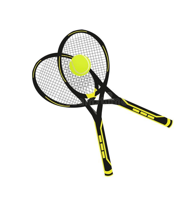 Download Tennis Equipment stock vector. Image of activity, round - 19378379