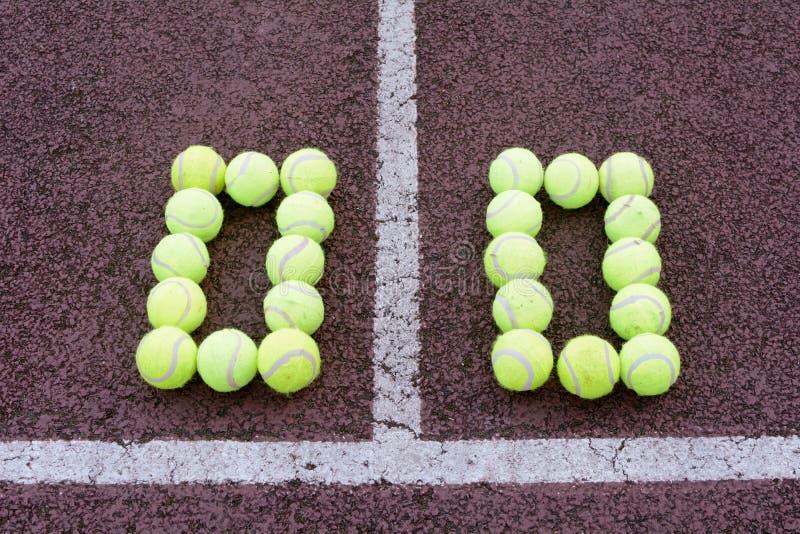 Tennis-Ergebnis lizenzfreie stockfotografie