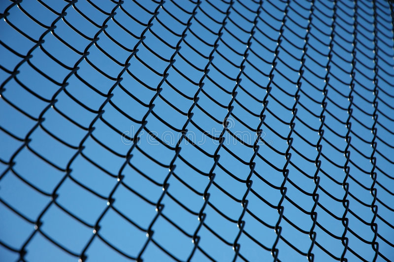 Tennis Fence Pattern stock image