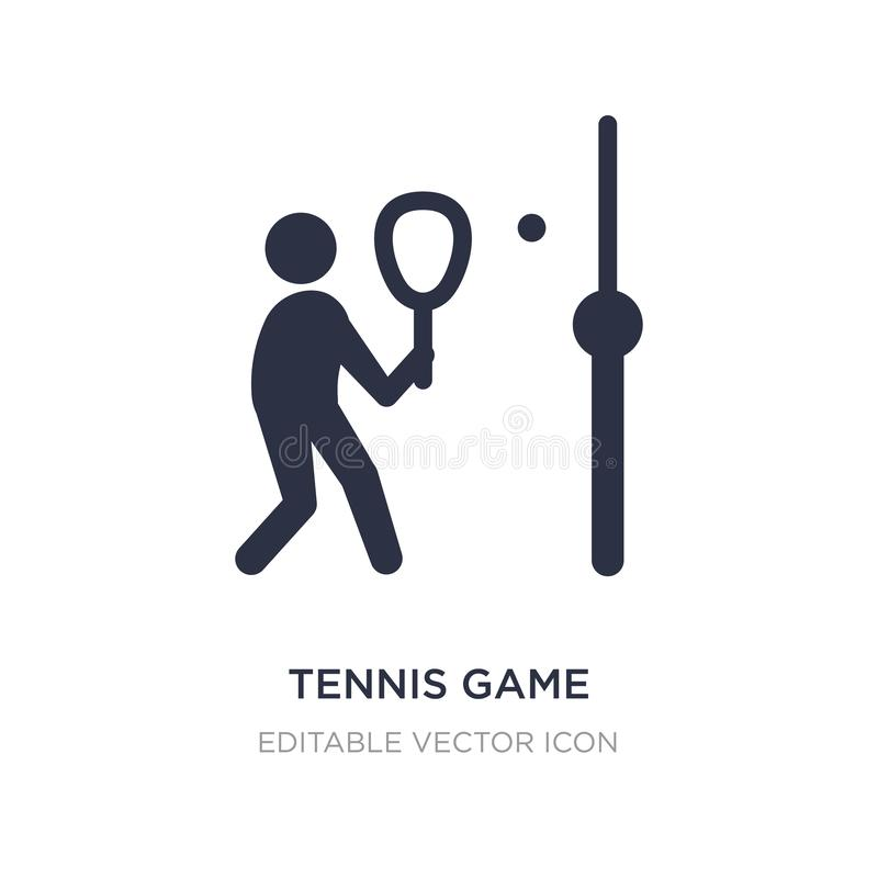 Tennis game icon on white background. Simple element illustration from Sports concept. Tennis game icon symbol design stock illustration