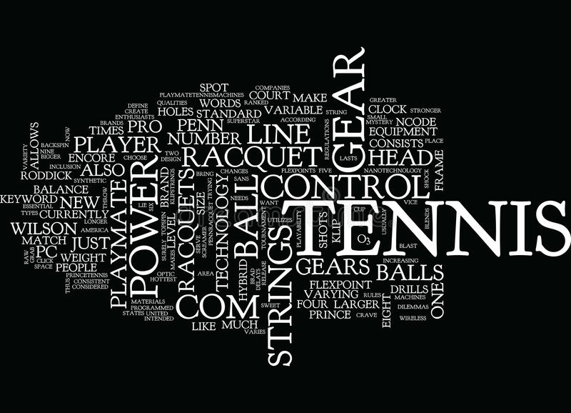 Tennis Gear Text Background Word Cloud Concept vector illustration