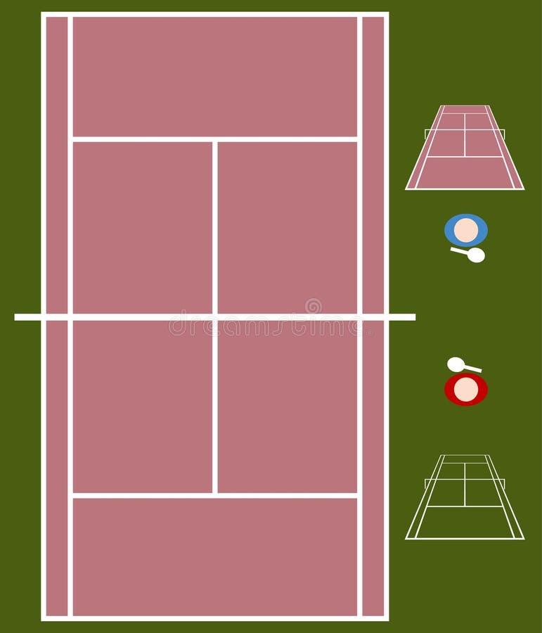 Tennis-Gericht vektor abbildung