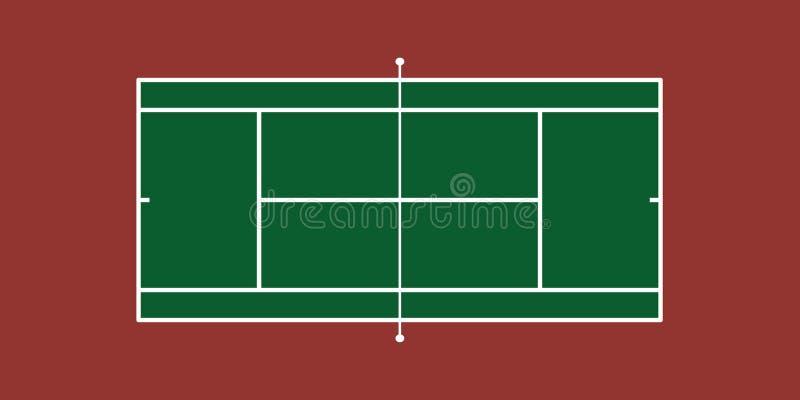 Tennis-Gericht stock abbildung
