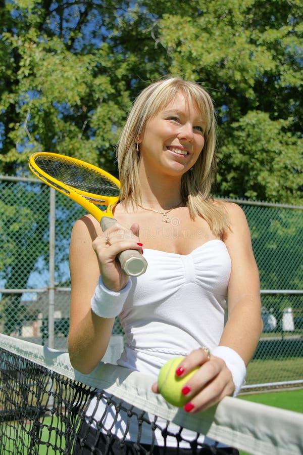 Tennis girl royalty free stock photo