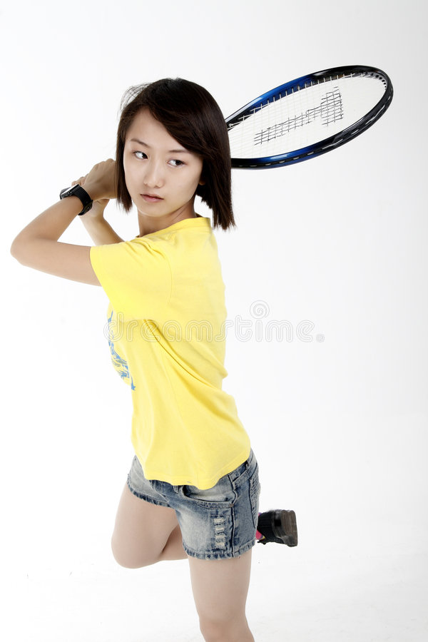 Download Tennis girl stock image. Image of camp, competition, asia - 5798559
