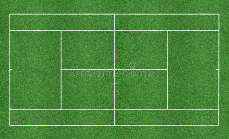 Tennis grass court royalty free stock photo