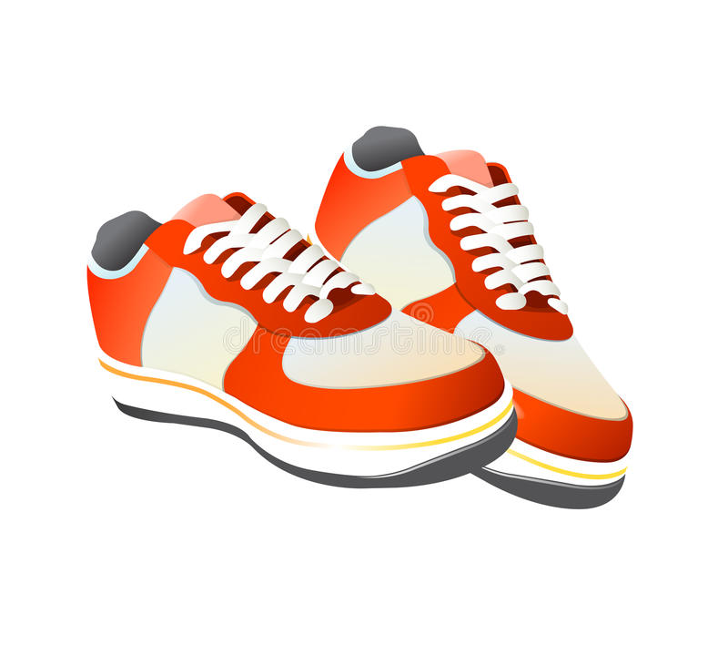 Free Tennis Gym Shoes Vector Stock Photography - 11062562