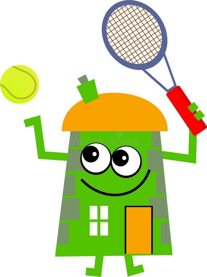 Tennis house vector illustration