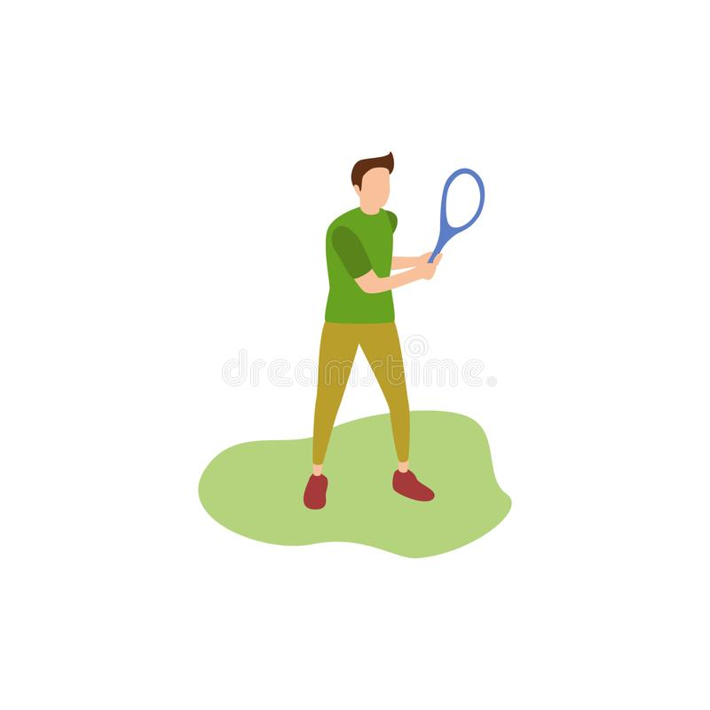 Tennis humain de passe-temps illustration stock