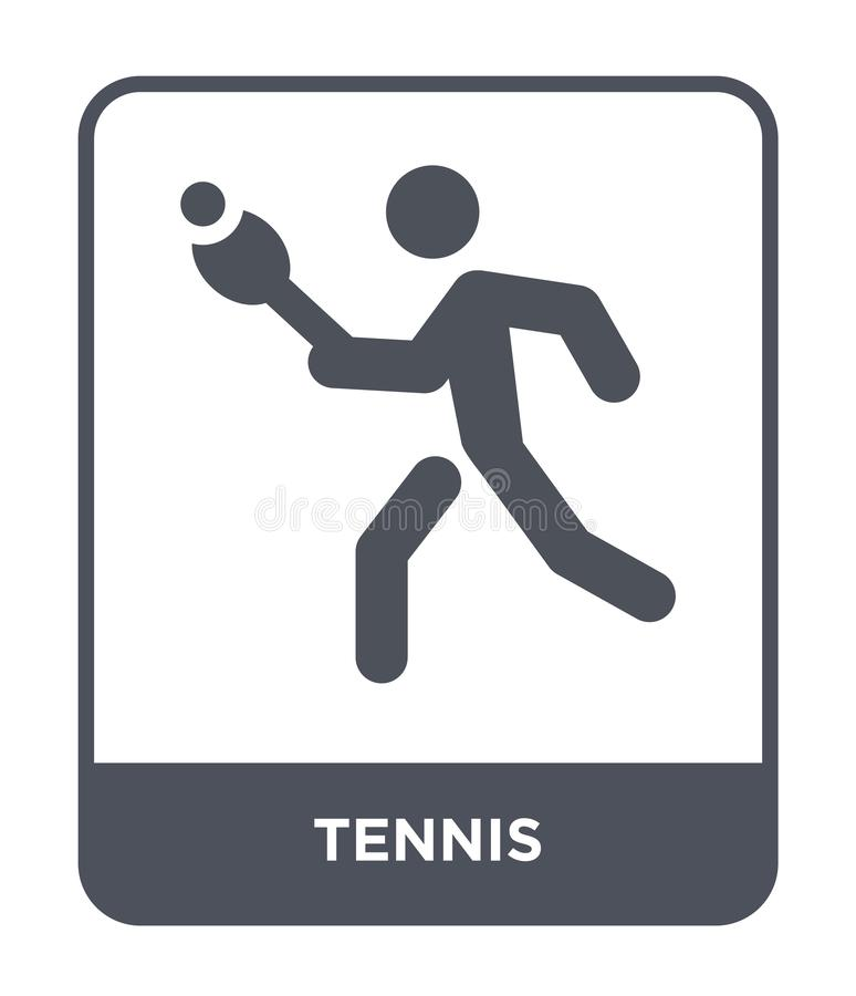 tennis icon in trendy design style. tennis icon isolated on white background. tennis vector icon simple and modern flat symbol for vector illustration