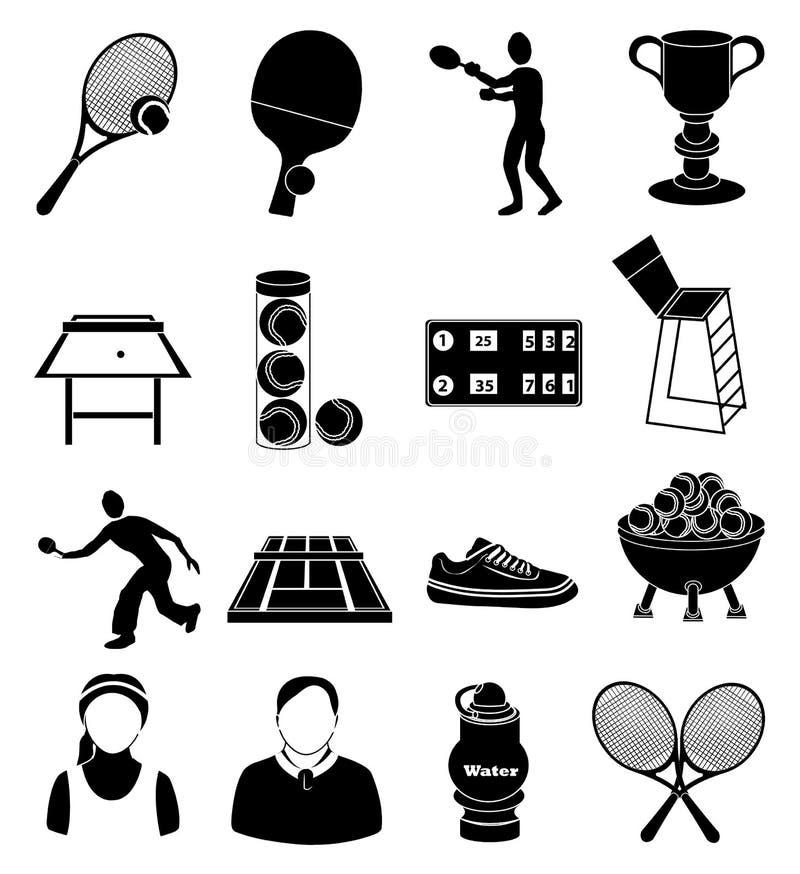 Tennis icons set stock illustration